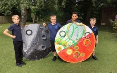 River Mead and Castle Mead children create art installation